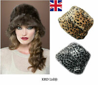 New High Quality Russian Cossack Bucket Style Faux Fur Winter Hat Ladies Ushanka