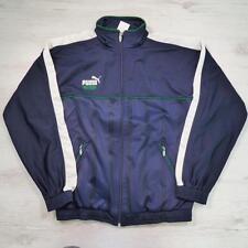 Mens PUMA King Vintage Blue Retro Polyester Tracksuit Top Jacket Small E2121