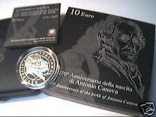 10 euro PROOF Italia 2007 argento Antonio CANOVA Italie