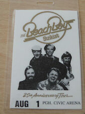 THE BEACH BOYS Laminated Backstage Tour Pass - 25th Anniversary Tour