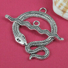 2sets tibetan silver tone snake design toggle clasps h3659