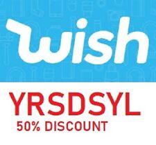 Wish 50% discount code