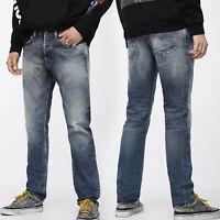 Diesel Mens Regular Slim Tapered Fit Supersoft Denim Jeans - Buster 084WN