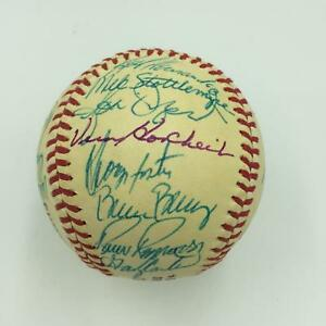 Nice 1985 New York Mets Team Signed National League Baseball With Gary Carter