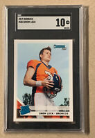 DREW LOCK RC DONRUSS RATED ROOKIE #303 RC BRONCOS GRADED SGC 10 💎