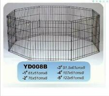 """24""""30""""/36""""/42""""/48""""x8pcs Panel Playpen play pen Pet Dog Puppy Exercise Cage fence"""