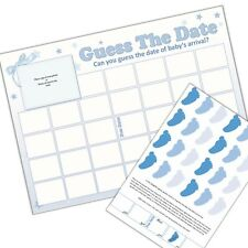 Baby Shower Game, GUESS THE DATE, Sweepstake, Boys, Blue, Party Game, Baby