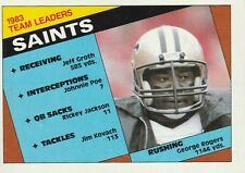 FREE SHIPPING-MINT-1984 Topps   GEORGE ROGERS #299 SAINTS TEAM LEADERS