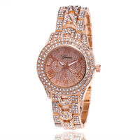 Luxury Stylish Bling Wrist Watch Fashion Wristwatch Mens Women Gold Silver Tone