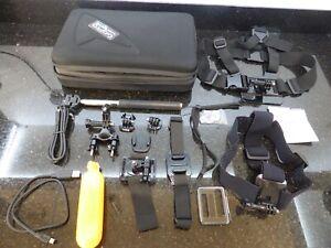 GoPro Accessories Chest Head Wrist Straps Stick Mounts Case Cables