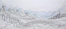 Walter John Trower,, obispo (1804 – 1877) Acuarela, «.. camino de Innsbruck. Tate.
