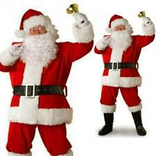 Weihnachtsmann Kostüm Weihnachten Flanell Anzug Herren Erwachsene Kostüm Outfit