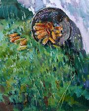 "Summer Garden landscape Original Oil Painting ""Corn"" by Yalanskyi A."
