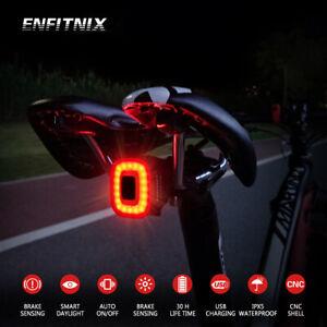 Enfitnix CubeLite II Bicycle Brake Sensing USB Road bike MTB Rear taillights NEW