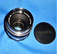 Yashica Japan Auto Yashinon 1:2 f=50mm Lens