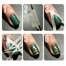 DIY French Nail Art Tips Tape Guide Stencil Manicure Form Stickers 1 roll