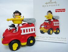 Hallmark 2011 Fisher Price LITTLE PEOPLE LIL' MOVERS FIRE TRUCK New in Box