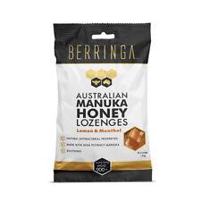 Berringa Australian Manuka Honey Lemon Menthol 150g 30 Lozenges