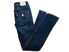 True Religion Woman's Size 28 Flar Joey Dark Wash Blue Jeans Authentic