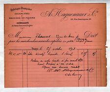 """PARIS (X°) USINE de COULEURS & BRONZE en poudre """"A. HAGUENAUER"""" en 1893"""