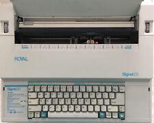 Royal Signet 20 Electronic Typewriter/Word Processor w/Memory - Extras!  NICE!