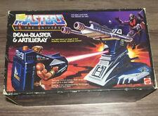 Beam-Blaster & Artilleray Vintage Masters of the Universe MOTU He-Man - WORKS!