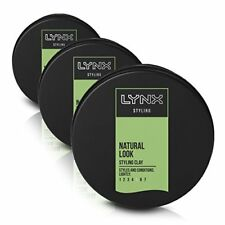 Lynx Natural Styling Clay 75ml - Pack of 3