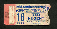 1978 Ted Nugent Golden Earring Concert Ticket Stub Memphis Tn Weekend Warriors