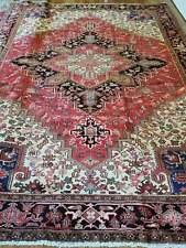 9 x12 or 8.4 x 11.1 Vintage Fine Heriz Rug Serapi Antique Ushak Kazak Caucasian