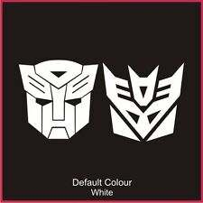 Transformers Decals x2, Cute, Funny, Sticker, Graphics, Car, N2107