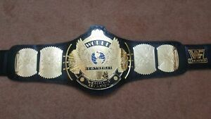 Classic Gold Winged Eagle Wrestling Champions Belt Leather Metal Plate
