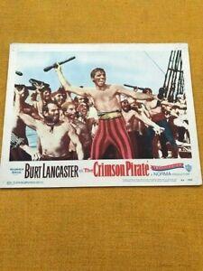 THE CRIMSON PIRATE.  SEVEN WARNER BROS.  US  LOBBY CARDS  ORIGINAL  RELEASE 1952
