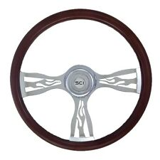 "18"" 3 Spoke ""Blaze"" Steering Wheel 3-Hole for Freightliner, Peterbilt,KW + more!"