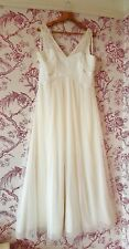 Monsoon ivory wedding dress, Size 16  Empire line with bead detail, with silk.
