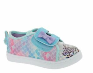 Buckle My Shoe Girls Multicolour Glittered Mermaid Trainers 9/10/11INF Infant