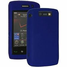 Genuine Blackberry Storm (9520, 9550) Pelle in Silicone-Blu Scuro
