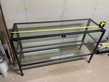 Large Metal Amp Glass Display Case Cabinet 50x 29x16