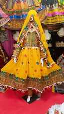 Traditional Afghan Kochi or Kuchi tribal dress in yellow color for sale.