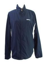 Wilson Mens Windbreaker Jacket Navy Blue & White Comfortable Size Large