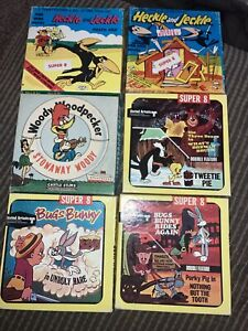 LOT OF 6 8MM / Super 8 Movies TITLES IN DESCRIPTION Bugs Bunny & More