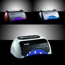 LAMPADA GEL UNGHIE PROFESSIONALE CCFL LED + UV 48W SMALTO FORNETTO RICOSTRUZIONE