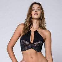 WONDERBRA BRALETTE HALTER PUSH UP bugel BH bra * FR 85 D - EU 70 D - UK 32 D