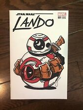 Star Wars Bb-8 Deadpool Tribute Drawn & Signed By James Fugate