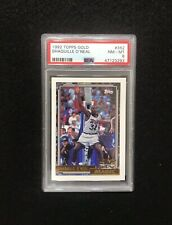 1992 Topps GOLD #362 Shaquille O'Neal Rookie. PSA 8. Rare Gold Version.