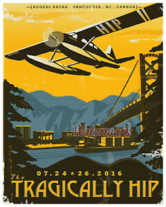 Tragically Hip Concert Poster REPRINT Color 16 X 20 Photo Picture