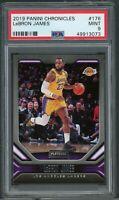LeBron James Los Angeles Lakers 2019 Panini Chronicles Basketball Card 176 PSA 9