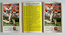 1986 NATIONAL FOOTBALL LEAGUE POCKET SCHEDULES - PHIL SIMMS , NEW YORK GIANTS