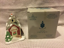 """PartyLite - """"The Schoolhouse"""" tealight holder with Box"""