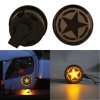 2 Pcs Car Super bright LED Smoke Turn Signal Lights For Jeep Wrangler JK 07-18