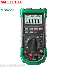 Mastech MS8229 5-in-1 Auto-Range Multi-functional Digital Multimeter Meter Alarm